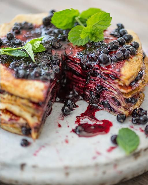 Blueberry Thousand Layer Cake - SWEET PAUL