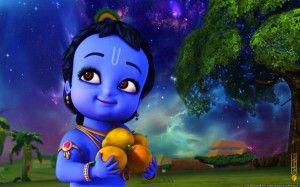 Little Krishna Holding Fruits