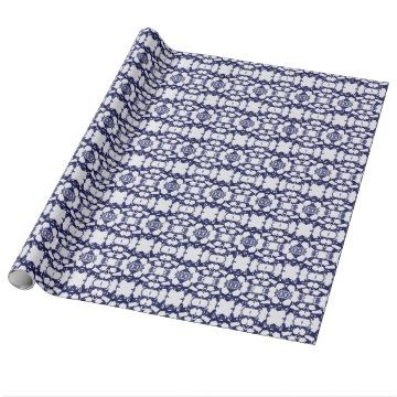 Shibori is the ancient Japanese art of folding and twisting textiles, then applying dye to the exposed sides. Nowadays, this process is more commonly known as tie-dye. Our Shibori-inspired design features a dark indigo pattern. Indigo was the color most frequently used in original Japanese Shibori textiles.