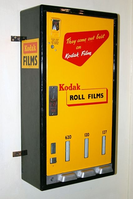 Vintage film vending machine. I still shoot film so this would really be awesome to still have around.