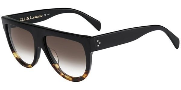 Black to tort acetate frame with a brown grad lens.