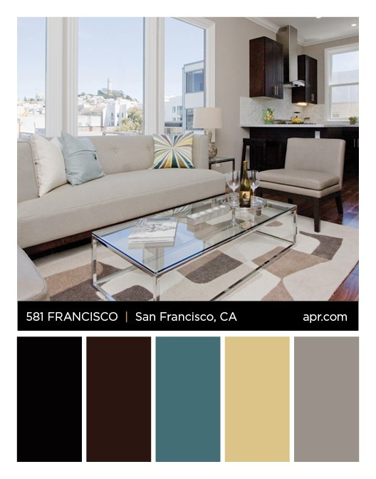 581 San Francisco Streeet, San Francisco, CA 94133 color palette. #northbeach #SF