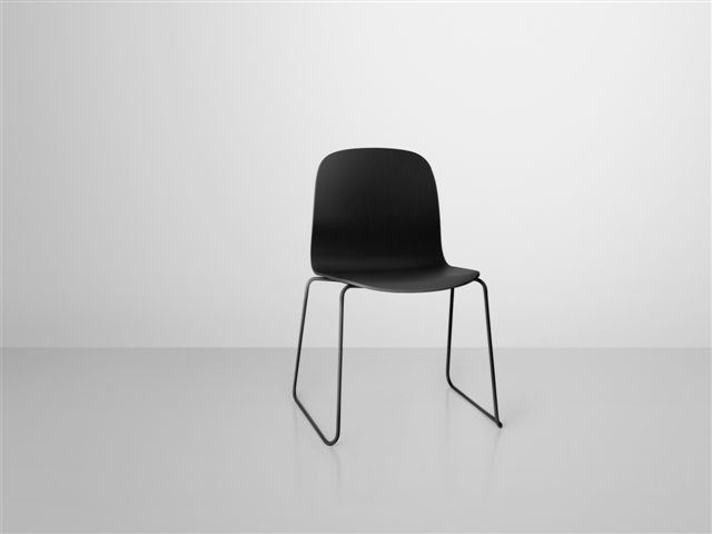 Visu Chair Stuhl Kufengestell Farbig Lackiert Muuto 2 Er Pack