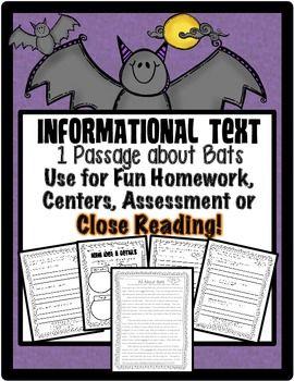 FREEBIE: Bats {Reading passage with Common Core Aligned Qu