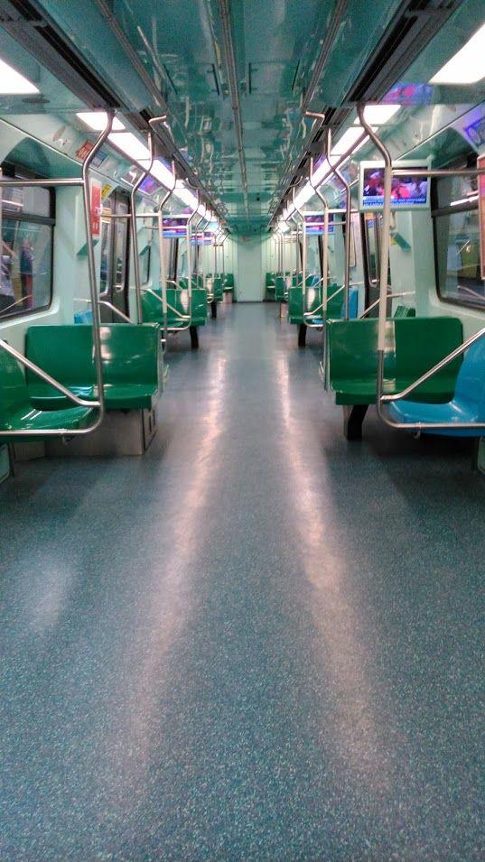 Green line. #subway #metro #sp