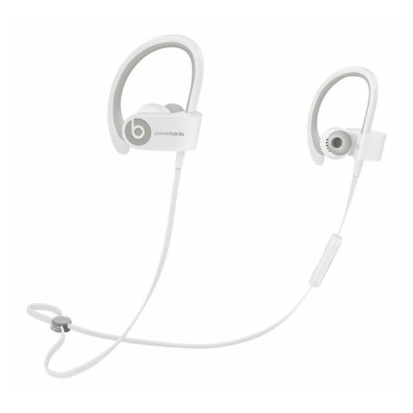 Beats by Dr. Dre Powerbeats2 Wireless Earbud Headphones White ($137) ❤ liked on Polyvore featuring accessories, tech accessories, headphones earbuds, ear bud headphone, water resistant headphones, beats by dr dre earbuds and white headphones