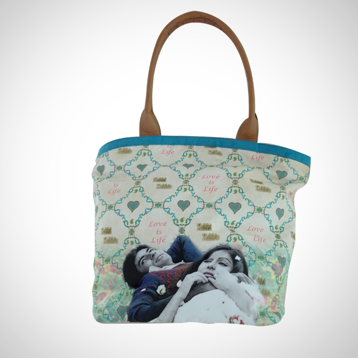 Designer 'Filmy' Tote Bags 'Kabhi Kabhie' Imprint  Now At Rs. 1,245.00 #MyFavouriteStar