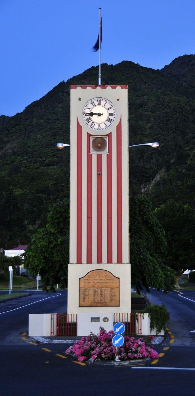 Te Aroha clocktower - Waikato, North Island, New Zealand