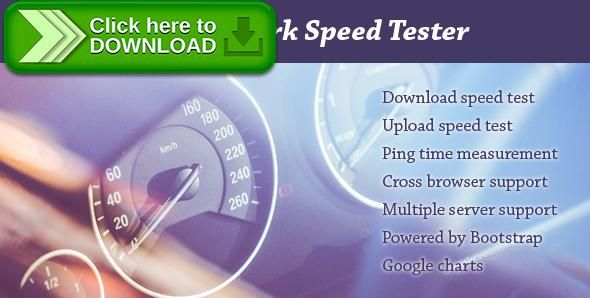 [ThemeForest]Free nulled download PHP Network Speed Tester from http://zippyfile.download/f.php?id=50900 Tags: ecommerce, bandwidth check, broadband, check, internet, internet speed, network speed, php, script, speed, speed check, speed test