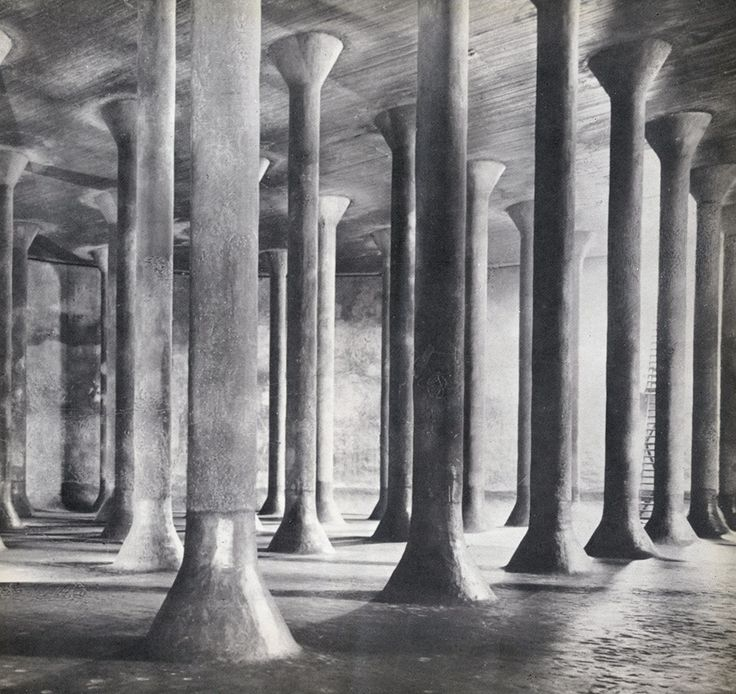 pier luigi nervi - serbatoi interrati per benzina, palermo, 1940
