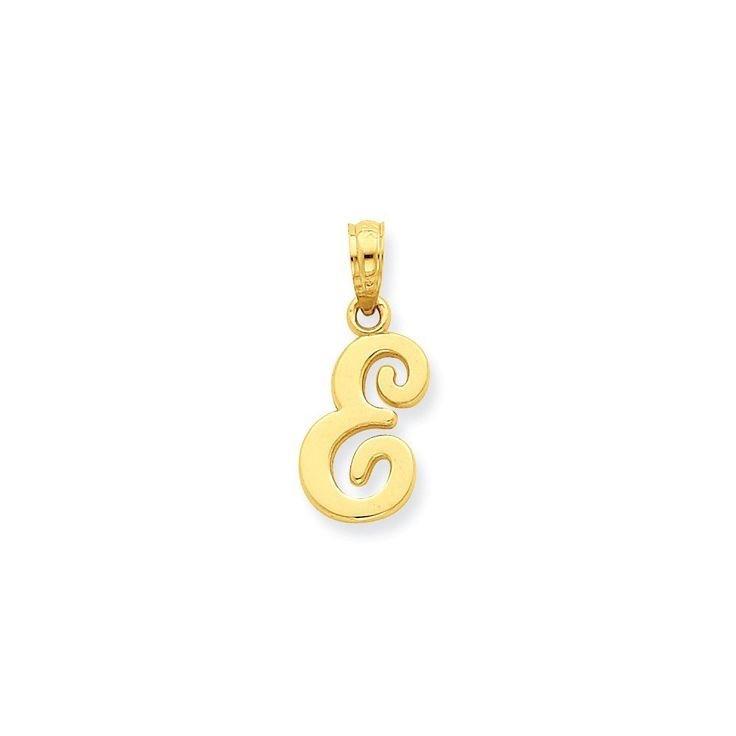 14k E Script Initial Pendant. 14k Gold GUARANTEED, Authenticated with a 14k Stamp. FREE Standard Shipping in USA. LUXURIOUS Velvet Box Included. Made with BRILLIANT Craftsmanship. Hassle Free Returns.