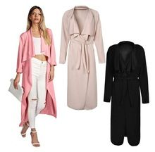 2015 fashion winter long sleeve open stitch turn down collar trench elegant black pink women coat with sashes  Best Seller follow this link http://shopingayo.space