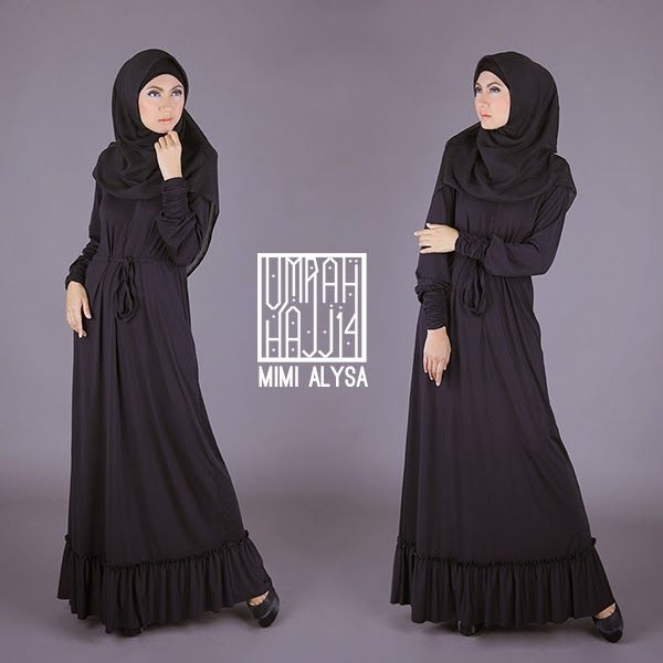 Middie Dress #UmrahHajjSeries2014 #SimplyMii Middie Long Dress  |  Breastfeed friendly with front Zipper  |  Price: IDR 475.000  |  Available Size: SM, ML, LXL