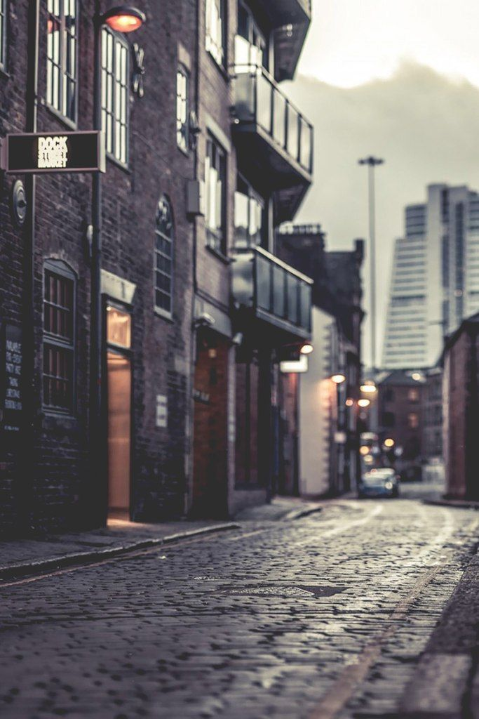 Old meets new - cobbled streets and Leeds' famous 'Dalek Building'