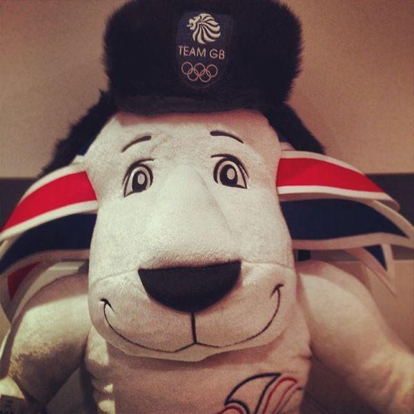 Team GB mascot keeping warm in Sochi
