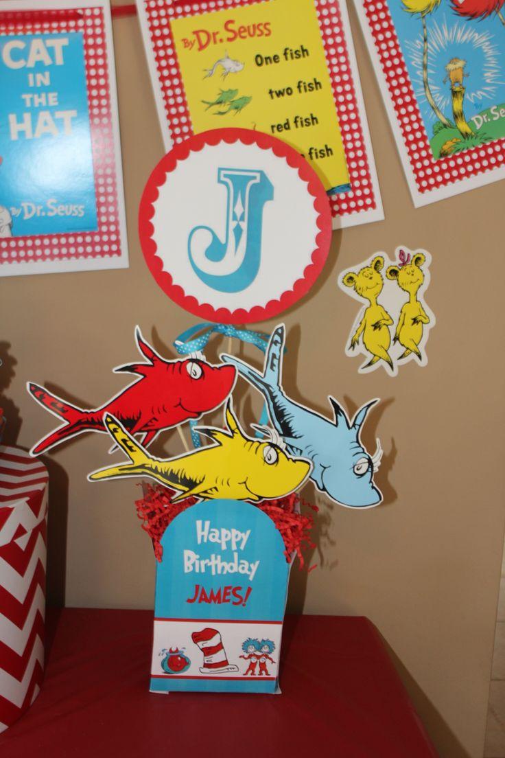 Dr Seuss Birthday Party Centerpiece