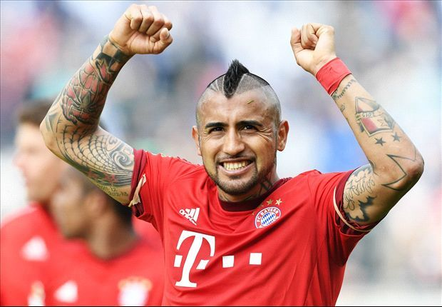 Arturo Erasmo Vidal Pardo is a Chilean professional footballer who plays as a midfielder for Bundesliga club Bayern Munich and the Chile national team. Wikipedia Born: 22 May 1987 (age 30), Santiago, Chile Height: 1.8 m Nationality: Chilean Spouse: Maria Teresa Matus (m. 2009) Salary: 7.8 million EUR (2016) Current teams: FC Bayern Munich (#23 / Midfielder), Chile national football team (#8 / Midfielder)