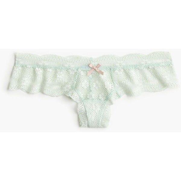 J.Crew Eberjey India Lace Boythong (400 SEK) ❤ liked on Polyvore featuring intimates, panties, lace boyshorts, lacy panties, lingerie thongs, boy shorts panties and boyshort panty
