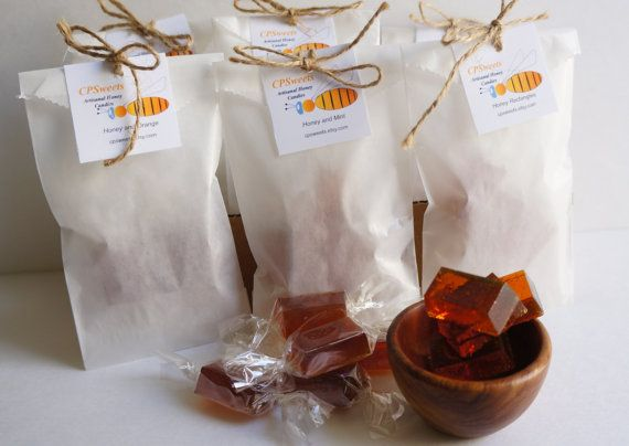 Honey Candy Sample Bags Homemade Candy  gift ideas  by cpsweets