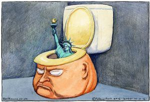 Steve Bell on the US election result – cartoon