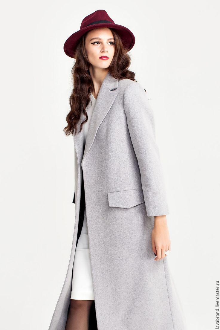 Пальто Серое - серый, однотонный, пальто, пальто женское, пальто из шерсти, шерсть