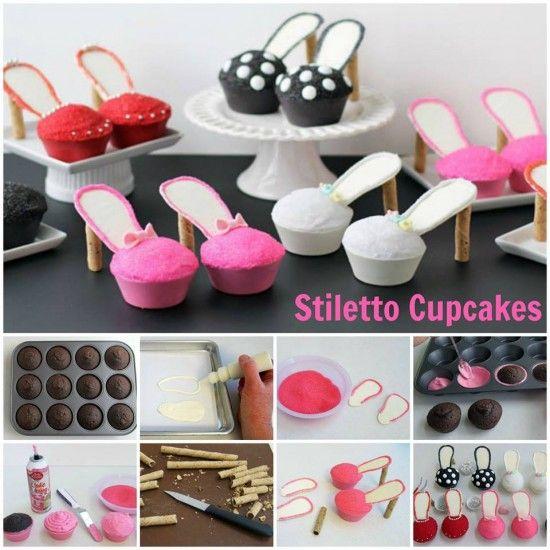 Homemade High Heel Cupcakes (Video Tutorial) - http://cakesmania.net/homemade-high-heel-cupcakes-video-tutorial/