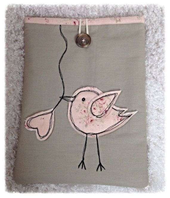 Padded Bird Appliqué ipad/Tablet Case on Etsy, £15.99
