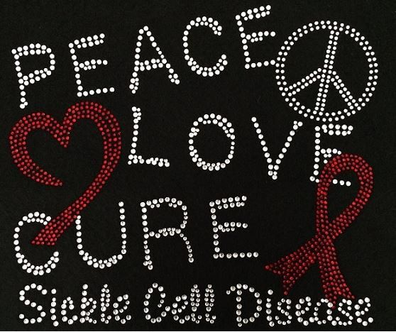 Rhinestone Sickle Cell Awareness Shirt - Bling Shirt