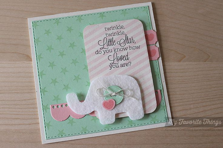 For the Love of Paper: MFT April Release Rewind: Baby Card