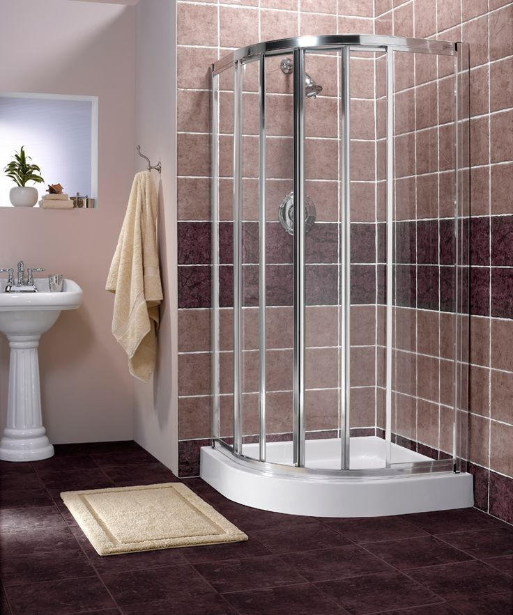 Drawing of Corner Shower Units for Small Bathroom Solving
