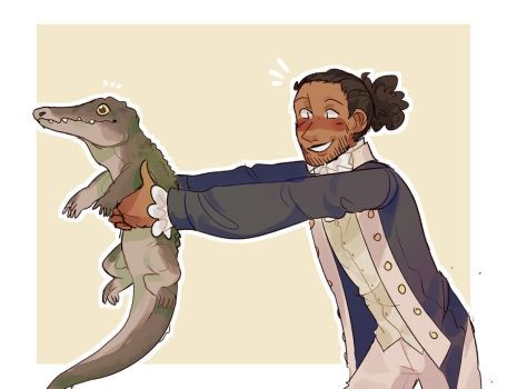 Lafayette gave an alligator to John Adams' son like is this man for real what even