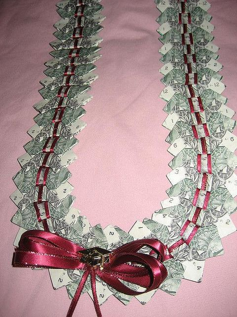 Bow tie money lei – #bow #lei #Money #tie