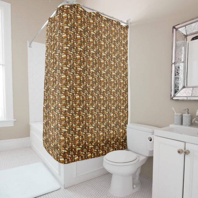 Abstract Autumn Fall Floral Elegant Modern Shower Curtain Zazzle