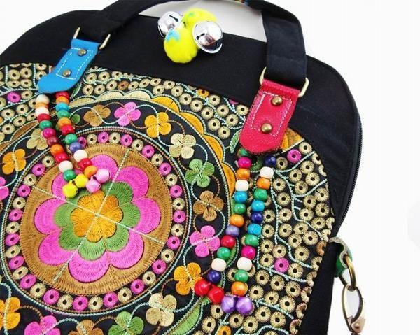 Ethnic Boho Ethnic Tote Bag Tribal Design