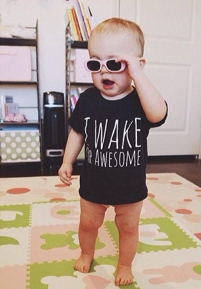 I Wake Up Awesome - Modern Infant Unisex Tee