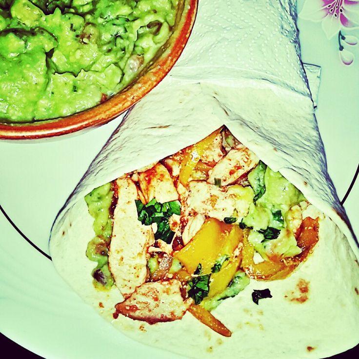 Fajitas with chicken