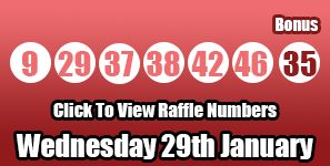 The Lotto and Lotto Raffle results for Wednesday 29th January 2014 - we had one jackpot winner tonight! http://lottorafflenumbers.com/lotto-results-29th-january/ #lotto #lottery #lottoraffle
