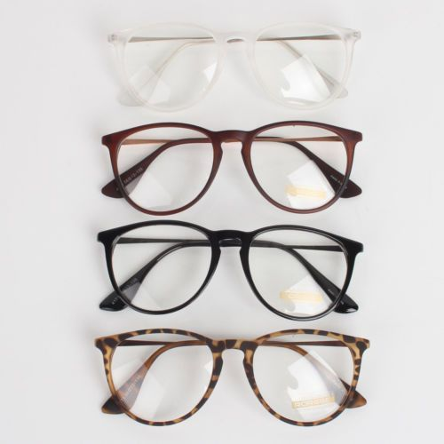 New Men Women Unisex Nerd Geek Clear Lens Eyewear Retro Wayfarer Glasses | eBay