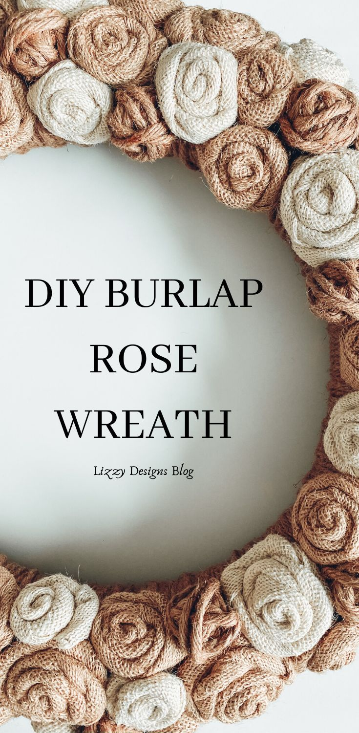 How To Make A Burlap Rose Wreath Including Roses Without Frayed Edges In 2020 Burlap Roses Rose Wreath Diy Burlap