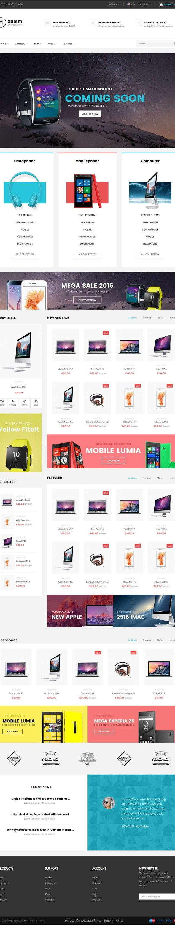 Ap Xalem Shopify Theme  #electric, #headset, #iphone, #macbook, #mobile, #shopify, #technology, #television, #template, #theme, #ecommerce, #shopify, …
