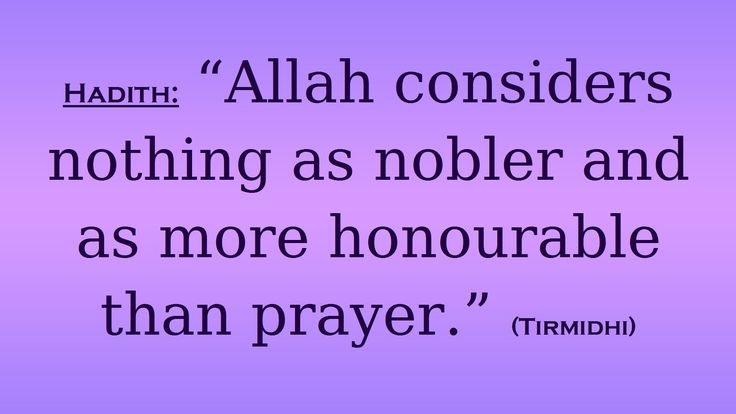 Noting more nobler than prayer in the sight of Allah. (Islam)