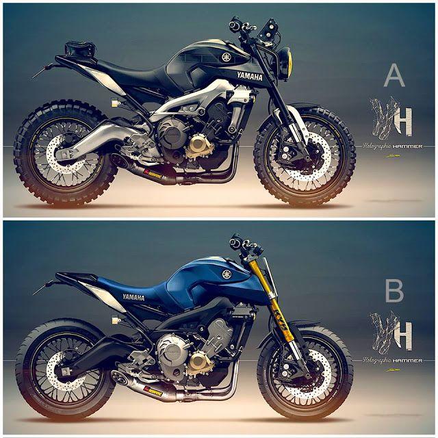 Racing Cafè: Cafè Racer Concepts - Yamaha MT-09 by Holographic Hammer