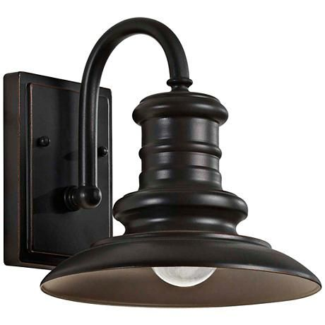 "Feiss Redding Station 9"" Bronze Outdoor Wall Lantern - #2Y352 