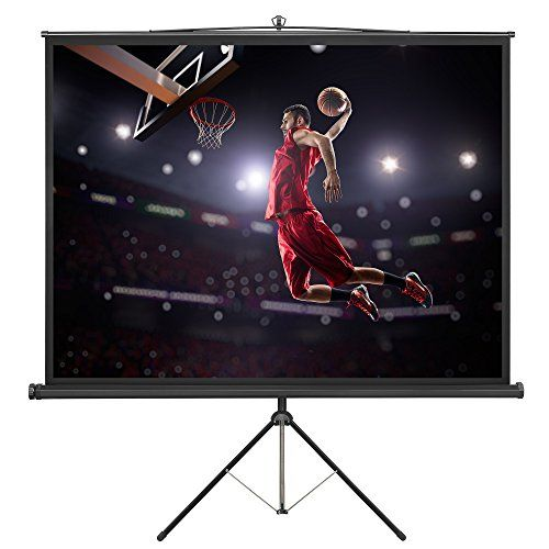VonHaus 84 Inch Projector Screen - Tripod Included - TV / Home Theater / Movie / Presentation Platform - 4:3 Aspect Ratio Indoor Portable Projection Screen - Suitable for LED, LCD and DLP Projectors #VonHaus #Inch #Projector #Screen #Tripod #Included #Home #Theater #Movie #Presentation #Platform #Aspect #Ratio #Indoor #Portable #Projection #Suitable #LED, #Projectors