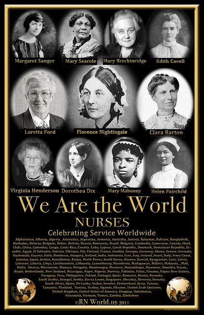 We are the nurses of the world                                                                                                                                                                                 More