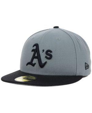 New Era Oakland Athletics Fc Gray Black 59FIFTY Cap - Gray 7 1/4