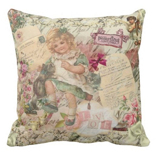 Victorian Floral Pillows : 102 best images about Victorian Accent Pillows on Pinterest Victorian christmas, Victorian and ...