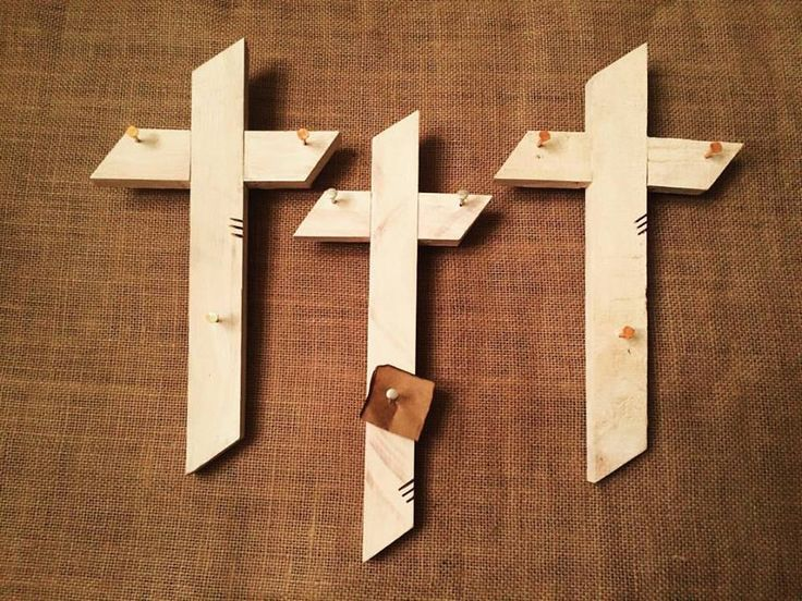 "Today's Limited Feature are our small white Crosses. These Surrender™ Crosses come with 3 pre-drilled holes and nails for piercing your burdens to the cross. Our hope is that you can experience a deeper joy as you surrender your burdens to Christ and rest in His loving arms! . *Bears our signature mark of 3 lines *Comes with a sturdy hanger *PATENT PENDING * Typical cross dimensions- 10"" H x 5"" W (varies depending on piece of wood) *Can choose silver or copper nails *$21 www.rad-joy.com"