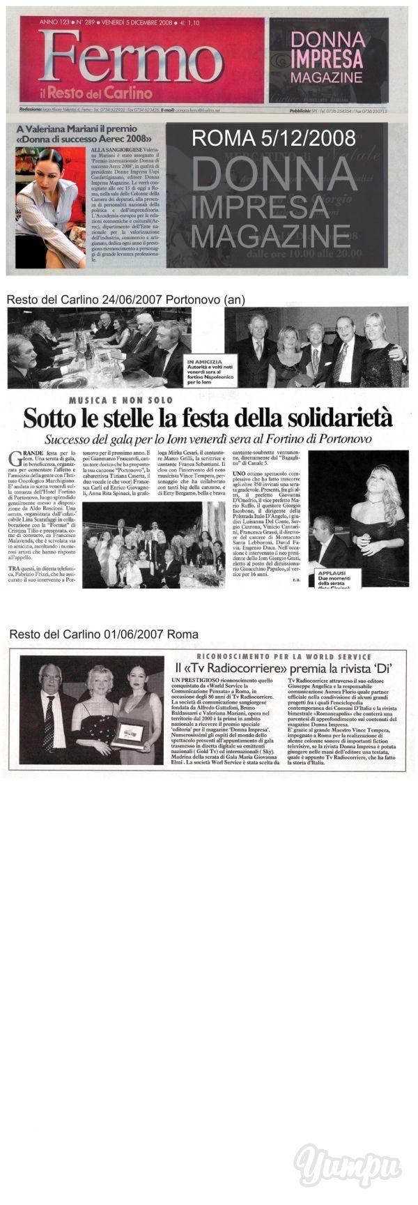 Resto del Carlino - Donna Impresa Magazine - Magazine with 2 pages: Resto del Carlino - Donna Impresa Magazine