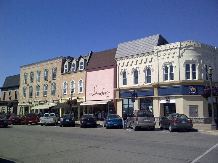 A block of Courthouse Square in downtown Goderich, Ontario.